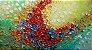 Quadro Pintura em Tela Abstrato Flores Coloridas - Imagem 1