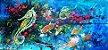 Quadro Pintura em tela Abstrato Moderno Vida Marinha - Imagem 1