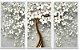 Quadro Pintura em Tela Cerejeira Branca - Imagem 1