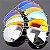 Óculos econômico LRC Pilot estilo Ray Ban - Proteção UV 400 - Imagem 5