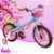 Bicicleta Aro 16 Candy Azul e Rosa com Cesta - Imagem 1