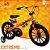 Bicicleta Aro 16 Extreme Laranja e Preto - Imagem 1