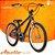 Bicicleta Aro 20 Apollo Preto e Laranja - Imagem 1