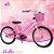 Bicicleta Aro 20 Bella Rosa e Branco com Cesta - Imagem 1