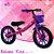 Bicicleta Balance Rosa e Roxo com Cesta - Imagem 1
