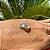 Brinco Prata Argola Pequena Cravejada Com Zircônia Branca - Imagem 4