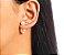 BRINCO BANHADO OURO 18K EAR JACKET PEROLA - Imagem 2