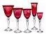 Jogo 24 Peças Taças De Cristal Vermelho Ancona - Rona - Imagem 1