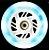 JOGO C/ 3 RODAS INLINE TRAXART LED 110MM/85A BRANCA - Imagem 2