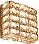 Arandela de Cristal - 15x15x7cm - Inox - Imagem 1