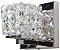 Arandela de Cristal - 12x12x12cm - Inox - Imagem 1