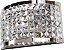 Arandela de Cristal - 30x19x11cm - Inox - Imagem 1