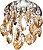 Embutido de Cristal Champanhe 1xG9 D&D EM-720/1 - Imagem 1