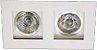 Spot de Embutir Recuado Branco Duplo Mini Dicroica MR11 D&D EM-232 - Imagem 1