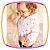 Jaqueta infantil corta vento em nylon e tela  rosa - Imagem 3