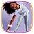 Conjunto infantil de blusa em meia malha na cor branca estampa ESTRELA e legging em cirre holográfico na cor cinza - Imagem 2