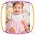 Vestido para bebê, bata em cotton e tricoline  e calcinha em tricoline  - Imagem 2