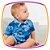 Conjunto para bebê body camisa em viscose estampa verão e bermuda em sarja leve - Imagem 3