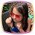 Óculos de coração - lente degrade azul e rosa - Imagem 2
