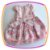 Vestido infantil Corpo Nervura com Pérola Bordada e Saia Estampa Flor  - Imagem 4