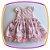 Vestido infantil Corpo Nervura com Pérola Bordada e Saia Estampa Flor  - Imagem 1