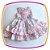 Vestido infantil Drapeado Floral com Laços - Imagem 1