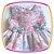 Vestido infantil Drapeado Floral com Laços - Imagem 2