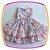 Vestido infantil Drapeado Floral com Laços - Imagem 4