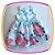 Vestido infantil Estampa Rosas Grandes e Aplique de Pérola - Imagem 1