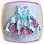 Vestido infantil Estampa Rosas Grandes e Aplique de Pérola - Imagem 4