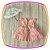 Vestido infantil com Renda e Tule - Cor: Rosê - Imagem 1