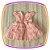 Vestido infantil com Renda e Tule - Cor: Rosê - Imagem 2