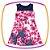 Vestido infantil em Super Cetim e Renda e Saia Estampada de Flores   - Imagem 1