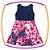 Vestido infantil em Super Cetim e Renda e Saia Estampada de Flores   - Imagem 2