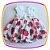 Vestido infantil Corpo em Nervura e Saia Estampada em Rosas  - Imagem 1