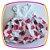 Vestido infantil Corpo em Nervura e Saia Estampada em Rosas  - Imagem 4