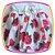 Vestido infantil Corpo em Nervura e Saia Estampada em Rosas  - Imagem 3