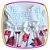 Vestido infantil Corpo em Nervura e Saia Estampada em Rosas  - Imagem 2