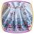 Vestido infantil com Estampa de Cup Cake em tons de Azul e Rosa - Imagem 3