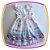 Vestido infantil com Estampa de Cup Cake em tons de Azul e Rosa - Imagem 4