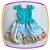 Vestido infantil Corpo Liso e Saia com Estampa de Fazenda e Moinho - Imagem 1