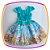 Vestido infantil Corpo Liso e Saia com Estampa de Fazenda e Moinho - Imagem 4