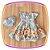 Vestido infantil Azul e Saia Estampada de Flores e Borboletas - Imagem 4