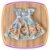 Vestido infantil Azul e Saia Estampada de Flores e Borboletas - Imagem 2