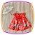 Vestido infantil Estampa de Flores no Barrado e Laço com Pedras  - Imagem 1