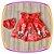 Vestido infantil Estampa de Flores no Barrado e Laço com Pedras  - Imagem 2