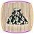 Vestido infantil Estampa de Tulipas Brancas - Imagem 3