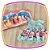 Vestido infantil com Aplique de Pedras e Barra da Saia Estampa de Flores - Imagem 5