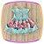 Vestido infantil com Aplique de Pedras e Barra da Saia Estampa de Flores - Imagem 4