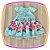 Vestido infantil com Aplique de Pedras e Barra da Saia Estampa de Flores - Imagem 2